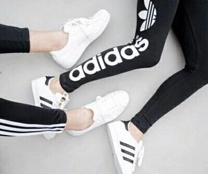 adidas, besties, and black image