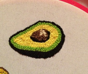 bordado, comida, and embroidery image