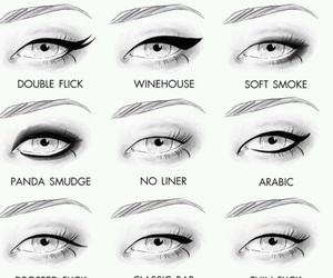 eyeliner, eyes, and make up image