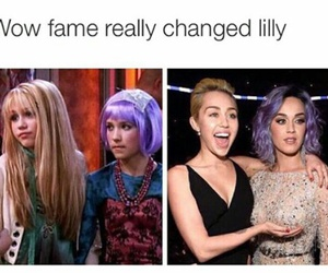 katy perry, miley cyrus, and hannah montana image