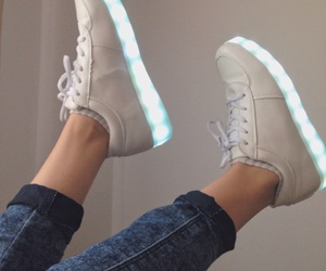 blue, light, and shoes image
