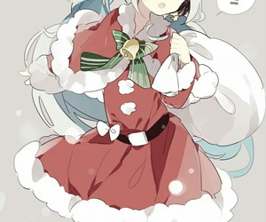 anime, kawaii, and christmas image