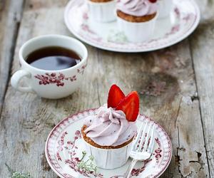 cupcake, tea, and girly image