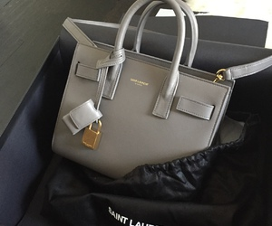 bag, luxury, and grey image