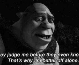 shrek, quotes, and alone image