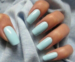 nails, blue, and beauty image
