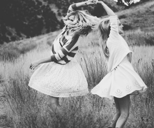 friends, black and white, and best friends image