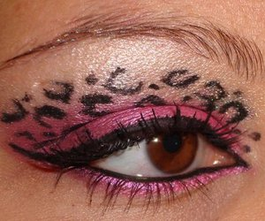 eye, leopard, and makeup image