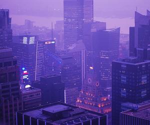 purple, city, and grunge image
