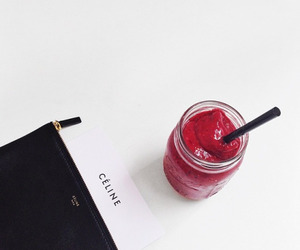 celine, red, and drink image