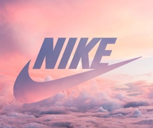 nike, sky, and clouds image