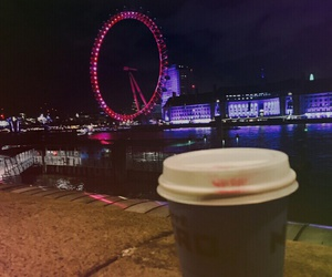 coffee, night, and london image
