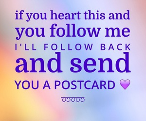follow, postcard, and heart image