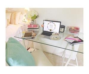 desk, inspiration, and pink image