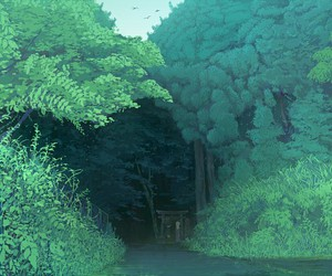 anime, landscape, and scenery image
