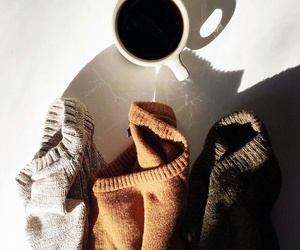 coffee, sweater, and indie image