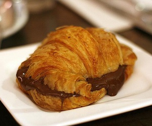 chocolate, food, and croissant image