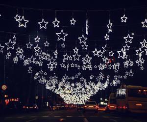 christmas, lights, and stars image