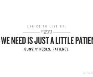 Guns N Roses, Lyrics, and patience image