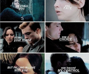 friendship, kiss, and the hunger games image