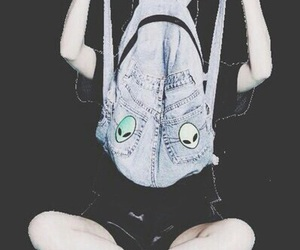 alien, grunge, and backpack image