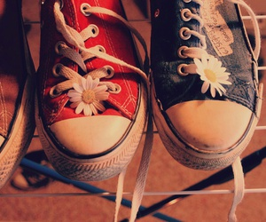 chucks, daisies, and hipster image