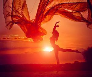 sunset, summer, and dance image