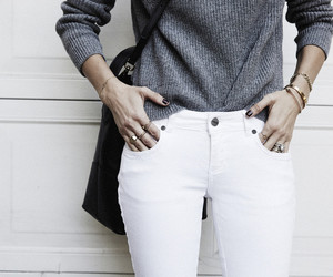fashion, grey, and white image