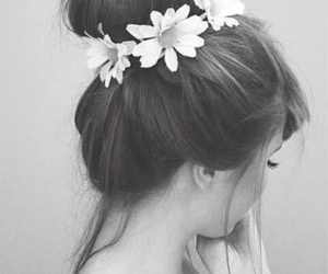 flowers and chignon image