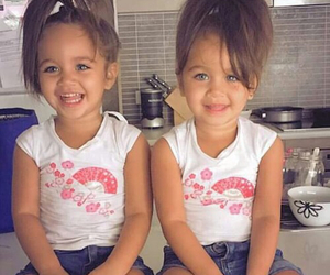twins, baby, and smile image
