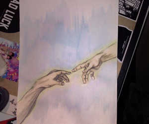 dessin, drawing, and hand image