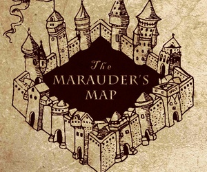 harry potter, map, and wallpaper image