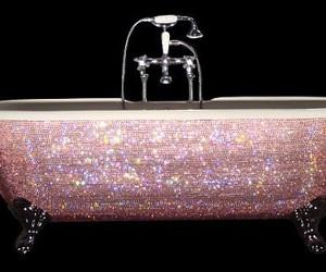 pink, bath, and glitter image