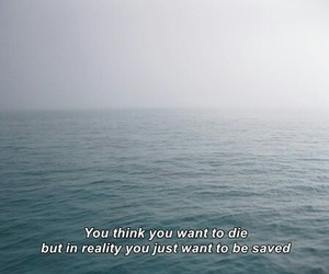 quotes, sad, and die image