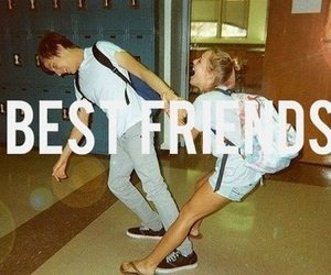 best friends, boy, and girl image