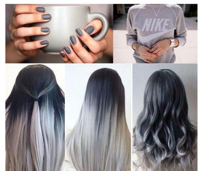 hair, nails, and grey image