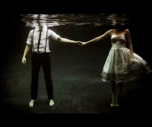 dark, sea, and love image