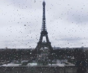 rain, france, and paris image