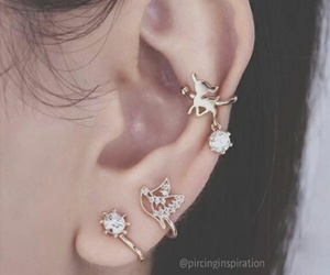 beautiful, piercing, and girl image