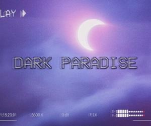 moon, purple, and grunge image