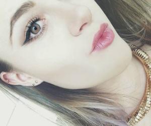 beauty, eyeliner, and lips image