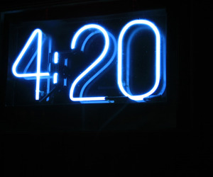 420, blue, and weed image