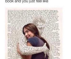 book, hug, and reading image