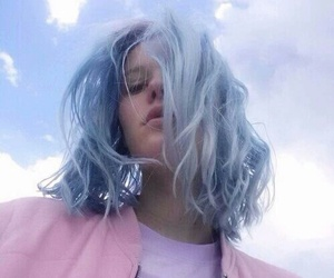 blue, hair, and pale image
