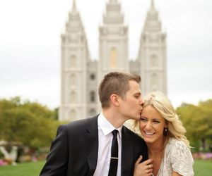 couple, Temple, and lds image