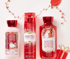 christmas, bath and body works, and winter candy apple image