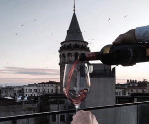 wine, istanbul, and beauty image