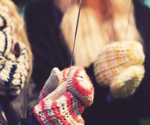 winter, christmas, and gloves image