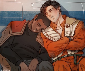finn, poe dameron, and star wars image
