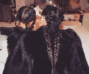 kim kardashian, north west, and braid image